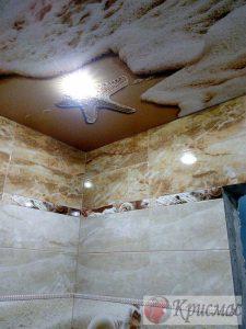 Фотопечать, потолок в ванной