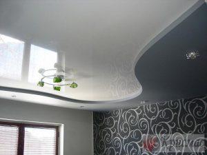 Криволинейный двухуровневый потолок