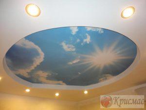 Потолок в детскую с фотопечатью ОБЛАКА