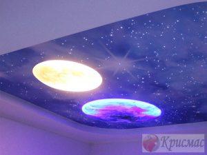 Потолок звездное небо для детской комнаты