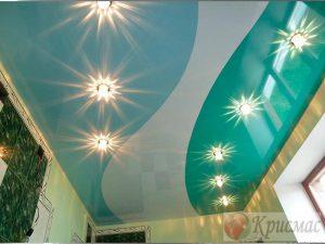 Комбинированный потолок в санузле