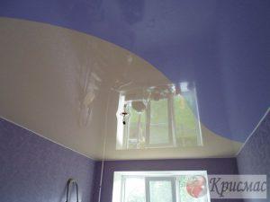 Комбинированный натяжной потолок в спальню ребенку
