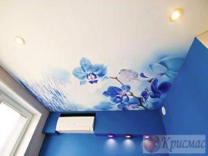 Потолок в спальню фотопечать