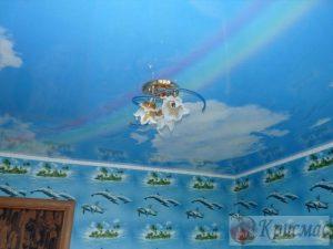 Натяжной потолок в детскую НЕБО