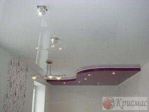 Двухуровневый потолок с зональным освещением