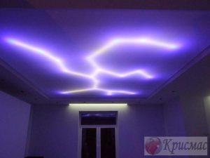 Потолок со светодиодной подсветкой полотна