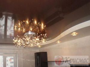 Двухуровневый потолок в гостиную
