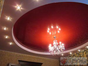 Красный глянец в гостиной