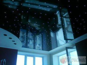 Черный глянец со звездочками