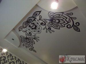 Натяжной потолок с фотопечатью, зал