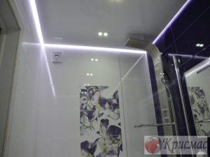 Потолок в ванную со светодиодной подсветкой