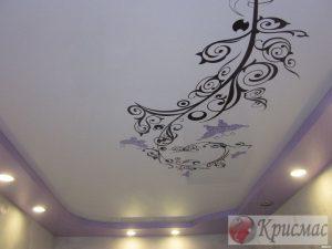 Потолок в гостиную с фотопечатью
