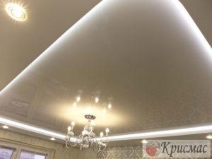 Натяжной потолок в зал
