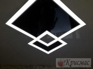Натяжной потолок в детскую со светодиодной подсветкой