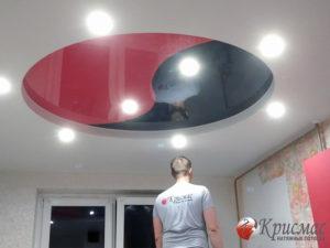 Натяжной потолок на кухню